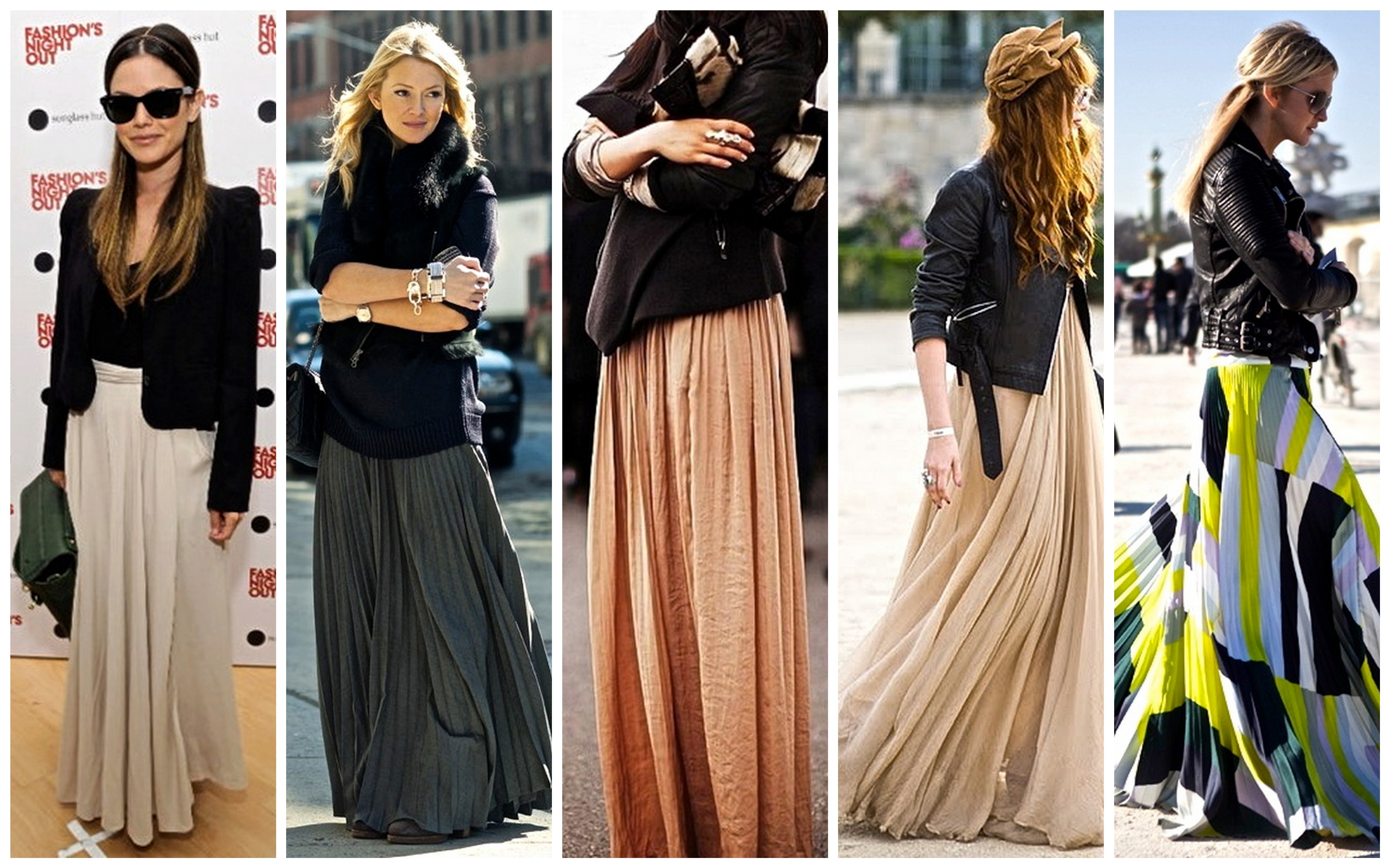 Dress up with maxi skirt